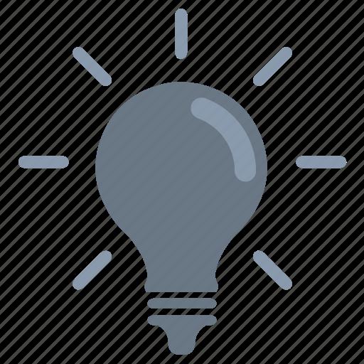 bulb, idea, light, minded icon