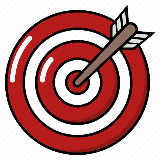 bullseye, setting up target, target, target achieved, target and arrow icon