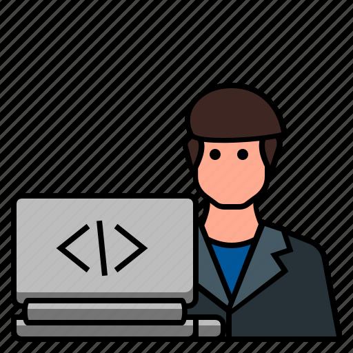 female developer, freelance programmer, software developer, web designer, web developer, web programmer, website developer icon