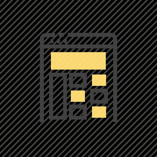 interface, layout, user, web icon