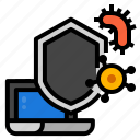 antivirus, internet, protection, technology icon