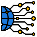 computer, data, internet, network, security icon