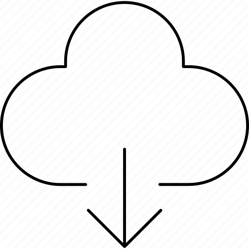 dowload, icloud, phone, web icon