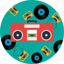 boombox, cd, headphone, music, radio, sound icon