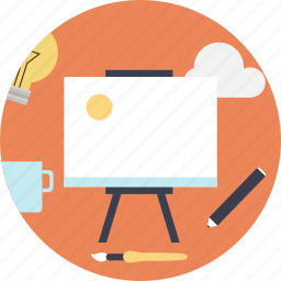 blackboard, business, meeting, pencil, presentation icon
