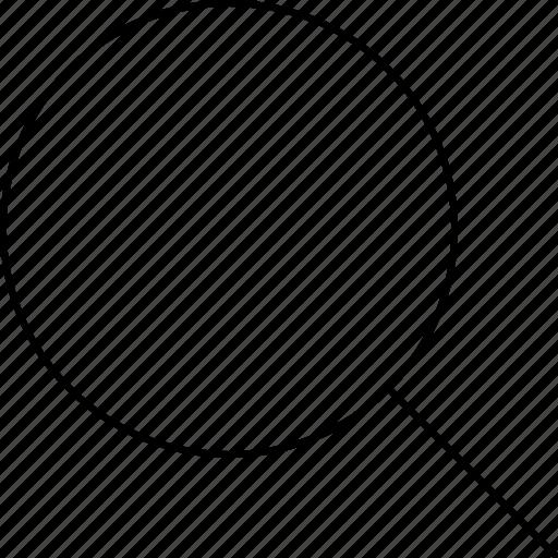 magnifying glass, media, phone, web icon