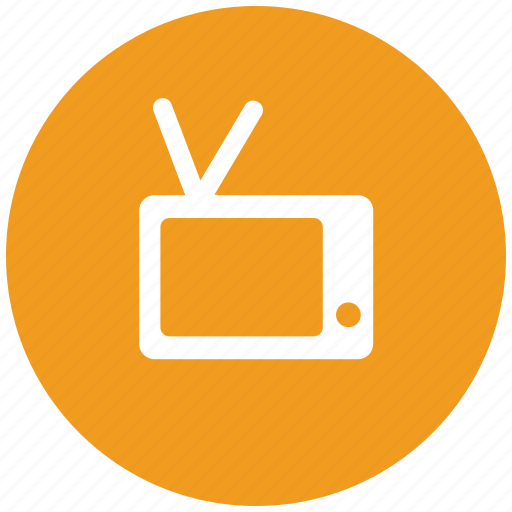 old, retro, tv, vintage icon