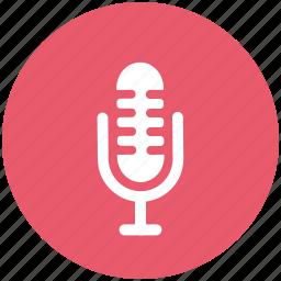 condenser, mic, microphone, retro icon