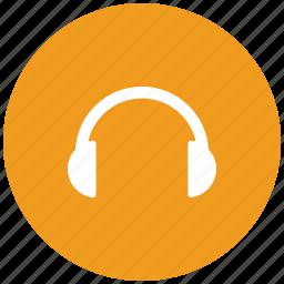 earphone, headphone, headset, listening device icon
