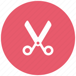 cut, cutting, edit, scissor icon