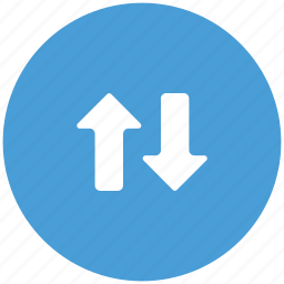arrows, down, sorting, up icon