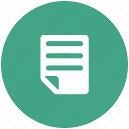 doc, document, sheet, text icon