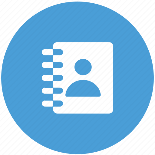 address book, contacts, list, phone book icon