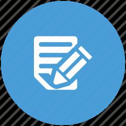 edit, pencil, sheet, text icon