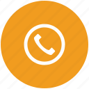 call, communication, contact, telephone receiver icon