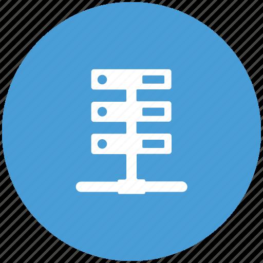 data, network, server, web icon