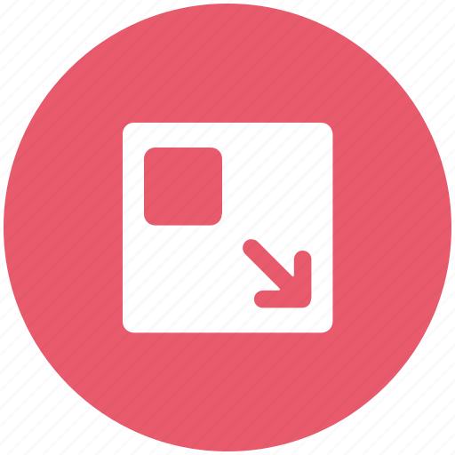 down arrow, minimize, screen, window icon