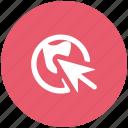 arrow, click, cursor, pointing