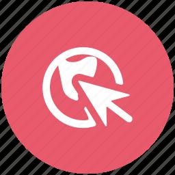 arrow, click, cursor, pointing icon