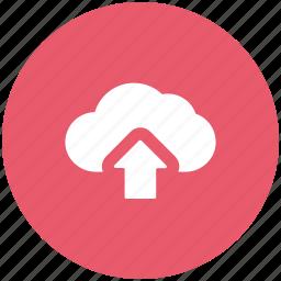 arrow, cloud, cloud network, up, upload, uploading icon