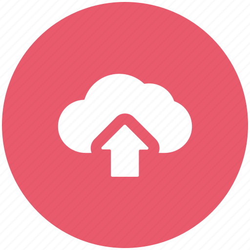 arrow, cloud, cloud network, up, upload, uploading icon