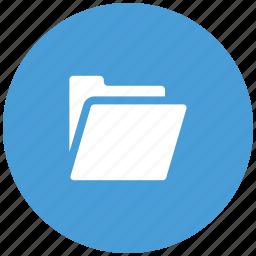 computer, empty, folder, open icon