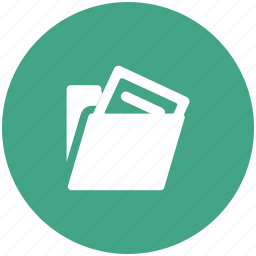 document, extension, file, folder icon