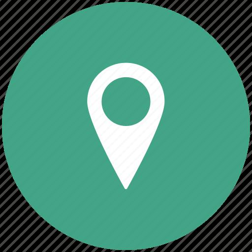 locator, map pin, marker, navigational icon