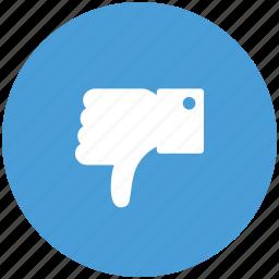 dislike, hand, thumb down, unlike icon