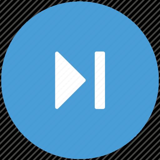 fast, forward, media button, player icon
