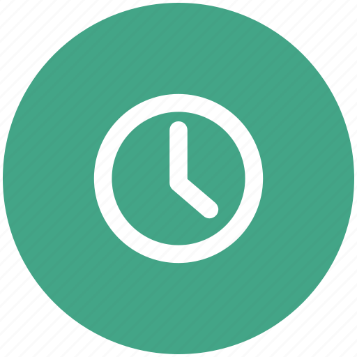 clock, round clock, timer, wall clock icon