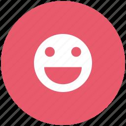 emoticon, happy, smile, smiley icon
