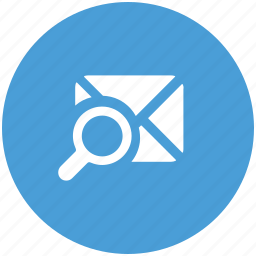 letter, magnifier, search, view icon