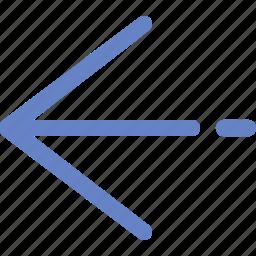 arrow, back, direction, left, location, navigation icon