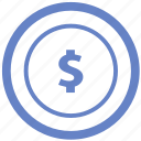 coin, dollar, money, payment, stamp icon
