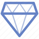 diamond, medal, star, tag icon