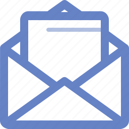 cover, document, envelop, file, open, wrapper icon