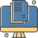 document, file, lcd, led