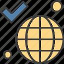 earth, globe, tick, world