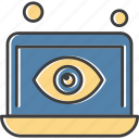 eye, laptop, look, view