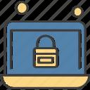 laptop, lock, locked, security