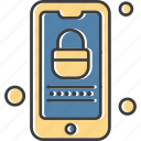 locked, mobile, phone, smartphone