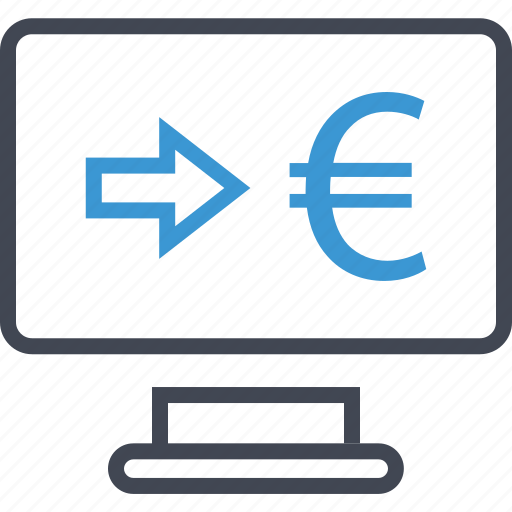 arrow, euro, mac, sign icon