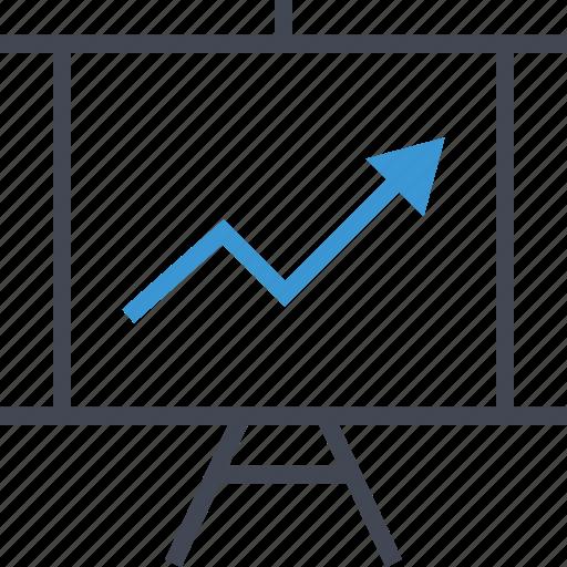 arrow, online, presentation icon