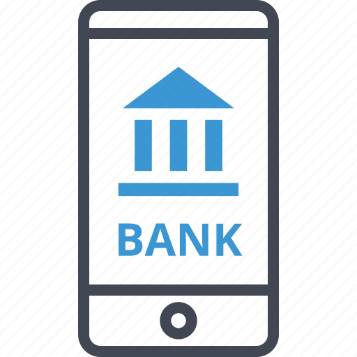 bank, mobile, online, web icon