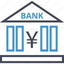bank, currency, online, yen icon