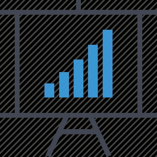 data, graph, presentation icon
