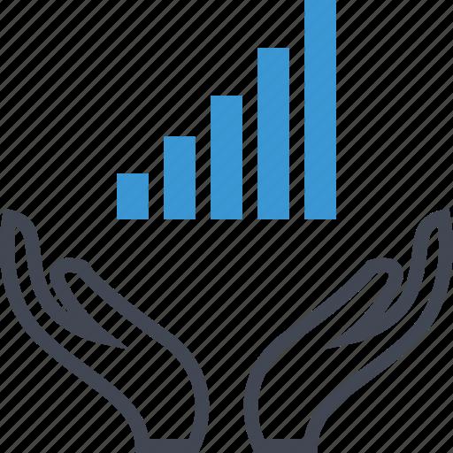 data, graph, high, report icon