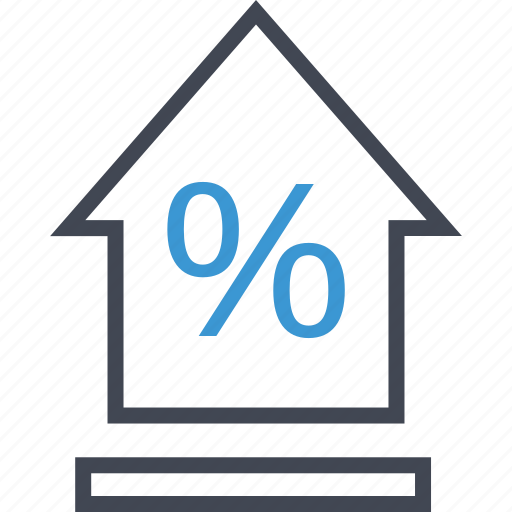 equity, house, percent icon