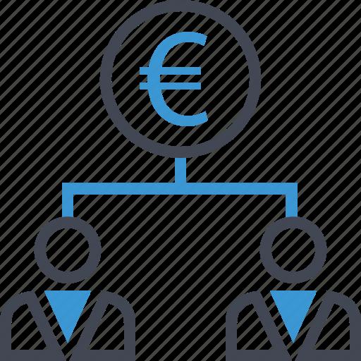 euro, group, sign, team icon